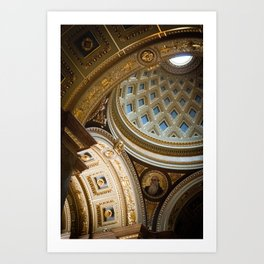 Interior Dome, St. Stephen Basilica, Budapest Art Print