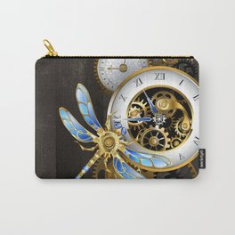 Dials with Dragonfly ( Steampunk ) Carry-All Pouch