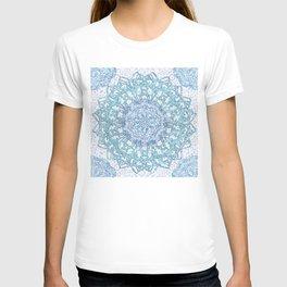 Aqua Lace Mandala T-shirt