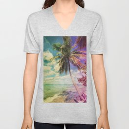 Prismatic Palm Unisex V-Neck