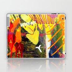 Wave yellow Laptop & iPad Skin