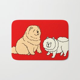 Chow Chow Dog Couple Bath Mat