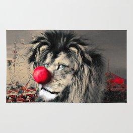 Circus Lion Clown Rug