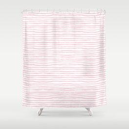 light pink wavy stripes Shower Curtain