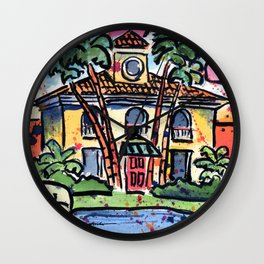 Tropical House Wall Clock