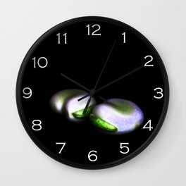 Two Broad Beans White Numbers Wall Clock Wall Clock