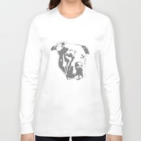 pitbull Long Sleeve T-shirts featuring COACH - GREY by Kirk Scott