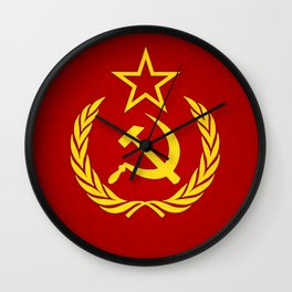 Hammer and Sickle Textured Flag Wall Clock