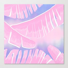 Banana Leaves Tropical Boho Summer Vibes Canvas Print