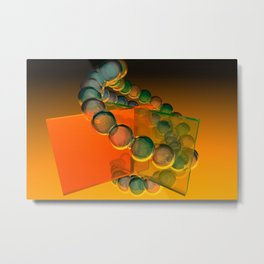 orange and green glass Metal Print