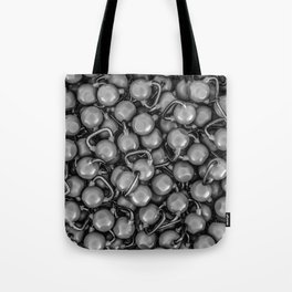 Kettlebells B&W Tote Bag