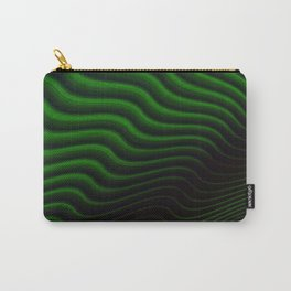 Black and Green Wave Stripes Carry-All Pouch