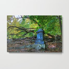 Autumn in the Cemetery Metal Print