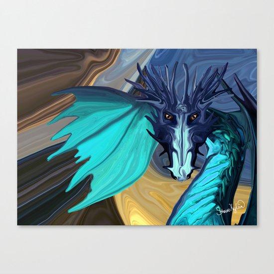 Sapphire Blaze Across the Canyon Canvas Print