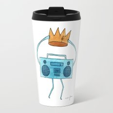 boombox holding a paper crown Travel Mug