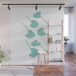 Little Fan-Shaped Leaves Illustration Wall Mural
