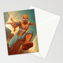 Spidy across the city Stationery Cards