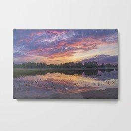 Sunset at Beach Metal Print