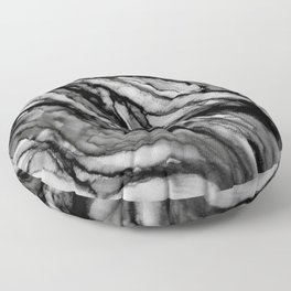black and white splendor Floor Pillow