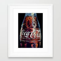 coca cola Framed Art Prints featuring The Real.... by LesImagesdeJon