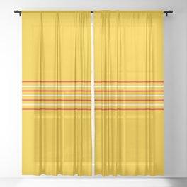 Filigree Thin Stripes on Yellow Sheer Curtain
