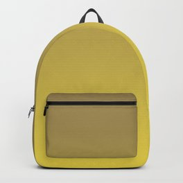 Yellow and Brown Ombre Gradient Blend 2021 Color of the Year Illuminating & Accent Shade Backpack