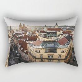 Prague Cityscape at sunset Rectangular Pillow