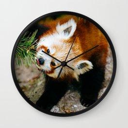 Little Red Panda Wall Clock