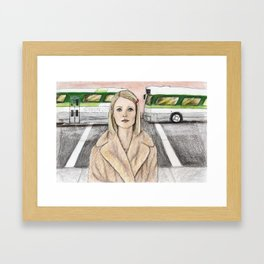 by way of the green line bus Framed Art Print