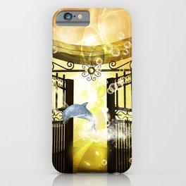 Cute dolphin iPhone Case