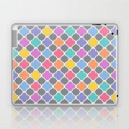 Rainbow & Gray Quatrefoil Laptop & iPad Skin