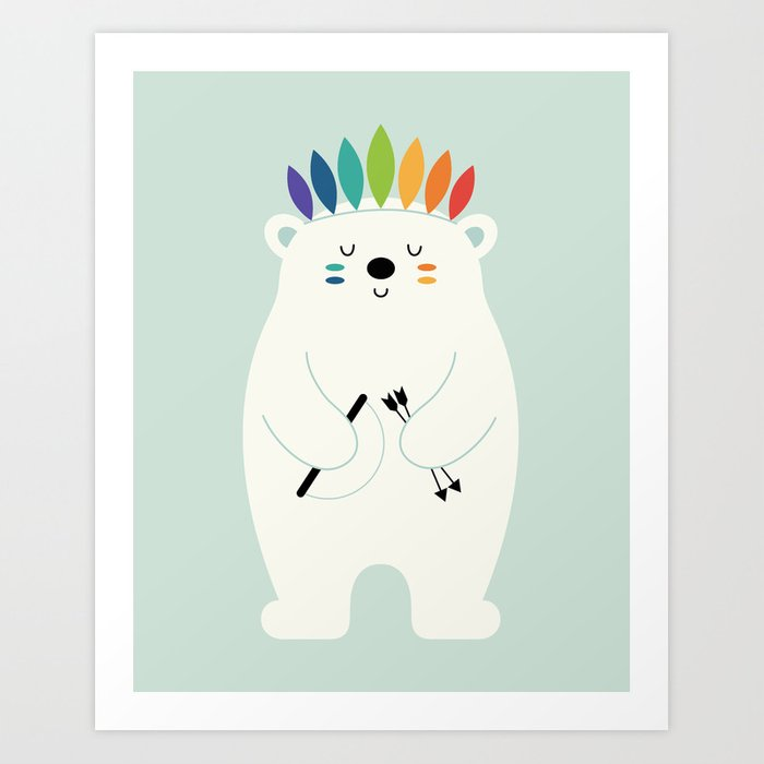 Discover the motif BE BRAVE POLAR by Andy Westface  as a print at TOPPOSTER