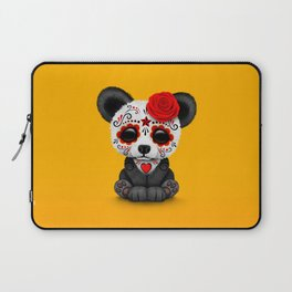 Red Day of the Dead Sugar Skull Panda Laptop Sleeve