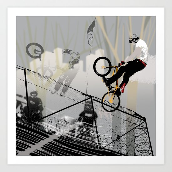 on the wire Art Print