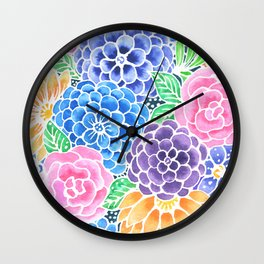 Masked Flora Collection Bloom Wall Clock
