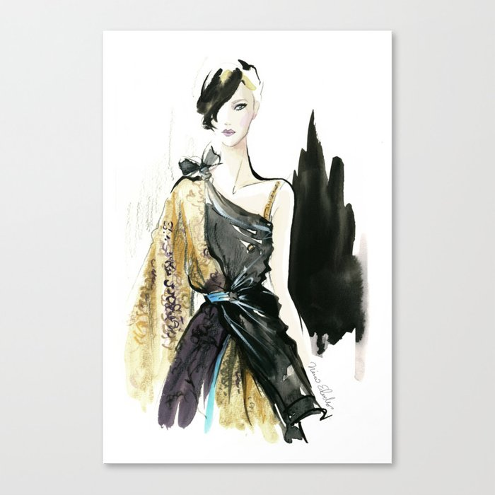 NYFW Fashion Illustrations Leinwanddruck