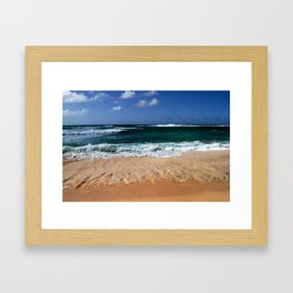 sunset beach  Framed Art Print
