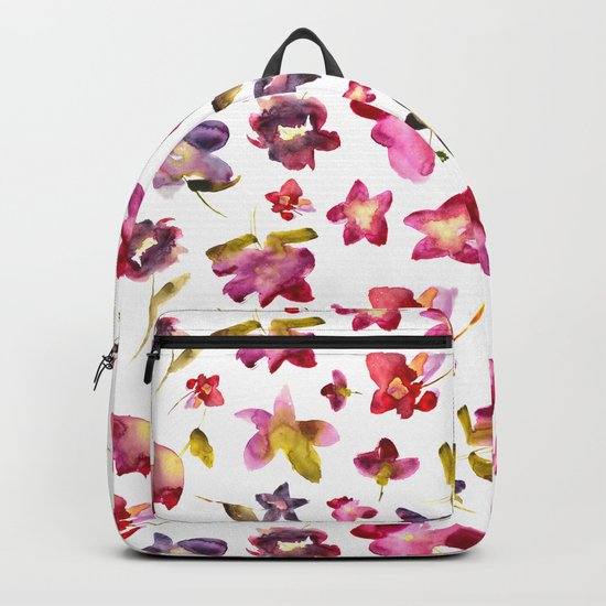 Floral vibes in watercolor Backpack