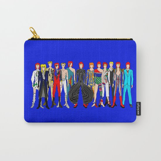 Blue Bowie Group Fashion Outfits Carry-All Pouch