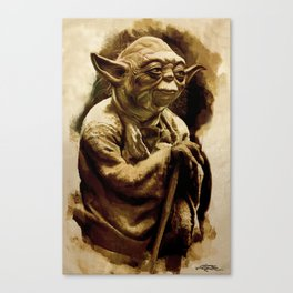Grand Master Yoda Canvas Print