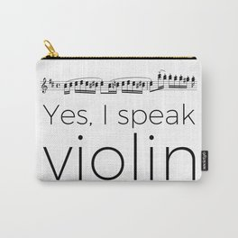 Do you speak violin? Carry-All Pouch