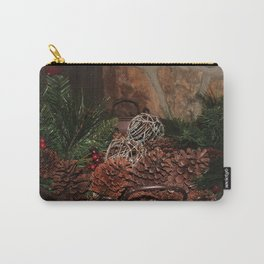 Holly And Pine Cones Carry-All Pouch