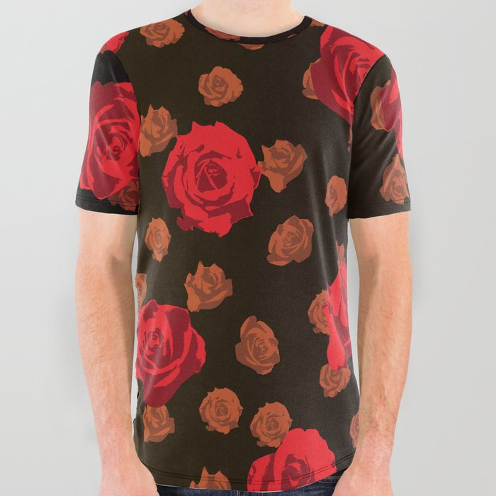 dark_roses_All_Over_Graphic_Tee_by_Zeljkica__Large