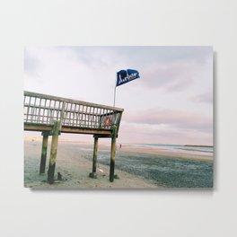 Provincetown Harbor Lounge Wharf Metal Print