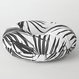 Black Palm Leaves Dream #1 #tropical #decor #art #society6 Floor Pillow