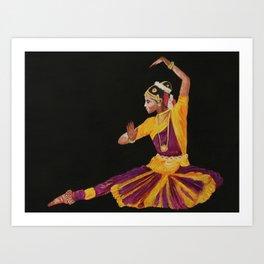 Bharathanatyam Dancer Art Print