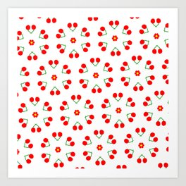 Cherry Blossoms Pattern Art Print