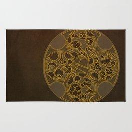 Tick-Tock Poem in Circular Gallifreyan Rug