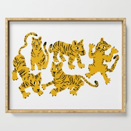 Playful Tigers Serving Tray