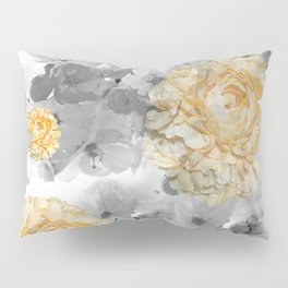 CHERRY BLOSSOMS AND YELLOW ROSES Pillow Sham